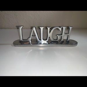 Other - Laugh Words Metal Decor Accents Silver